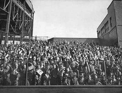 Cheers Photograph - Baseball Opening Day Fans by Underwood Archives