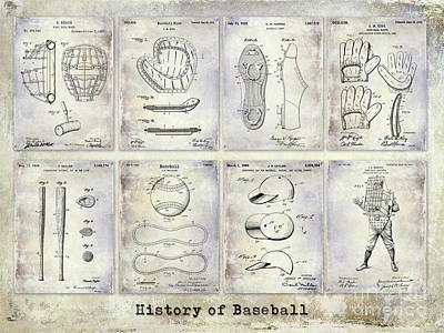 Baseball Gloves Wall Art - Photograph - Baseball Patent History by Jon Neidert