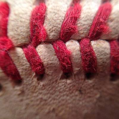 Macro Photograph - #baseball #pinstripes @cardinals.news by David Haskett II