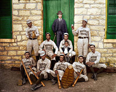 Sports Royalty-Free and Rights-Managed Images - Baseball Players by Maria Coulson