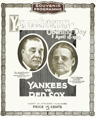 Baseball Program, 1923 Art Print