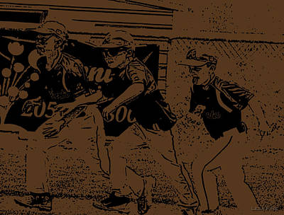 Photograph - Baseball  Runners Card by Lesa Fine