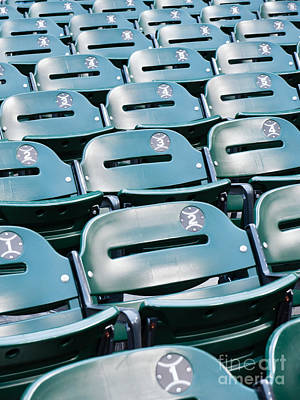 Bleachers Photograph - Baseball Stadium Seats by Paul Velgos