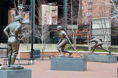 Cal Ripken Photograph - Baseball Statues At Camden Yards - Baltimore Maryland by Bill Cannon