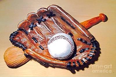 Baseball Wall Sculpture  Original