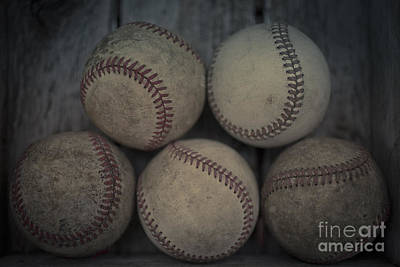 Baseball Royalty-Free and Rights-Managed Images - Baseballs by Edward Fielding