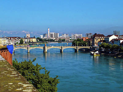 Photograph - Basel And The Rhine River by Sally Weigand
