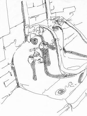 Basement Sink Original by Rhonda Alexander