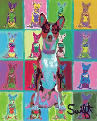 Dog Painting - Basenji by Char Swift