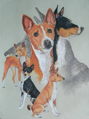 Drawing - Basenji Revamp by Barbara Keith