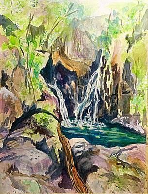 Painting - Bash Bish Falls  by Ellen Levinson