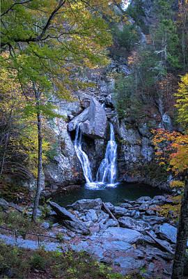 Digital Art - Bash Bish Falls in Autumn by John Morzen