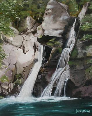 Bash Bish Falls Painting - Bash Bish Falls by Susan Moore