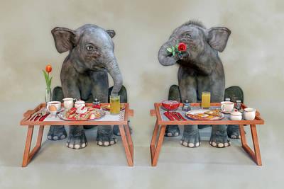 Surrealism Digital Art - Bashful by Betsy Knapp