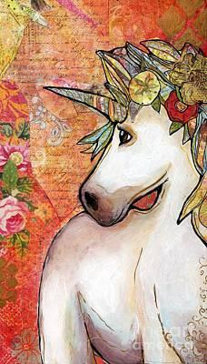 Mixed Media - Bashful Rose by Annalisa Loevenguth