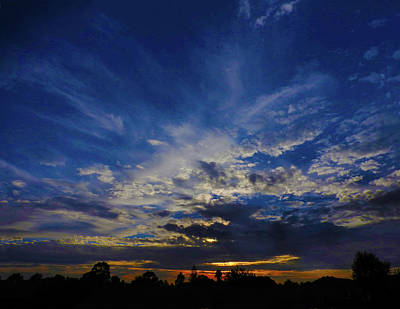Photograph - Bashful Sunset by Mark Blauhoefer