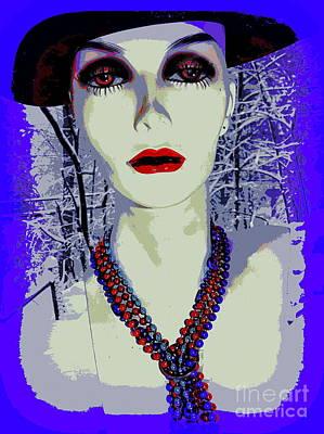Digital Art - Basia In Beads by Ed Weidman