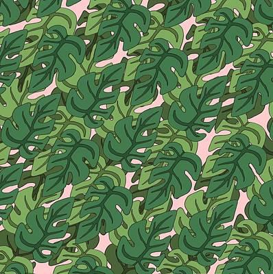 Basic Green Lead Pattern Art Print