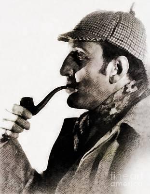 Musicians Royalty Free Images - Basil Rathbone as Sherlock Holmes Royalty-Free Image by John Springfield