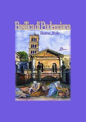 Painting - Basilic Di Pudenziana In Rome, Italy by John D Benson