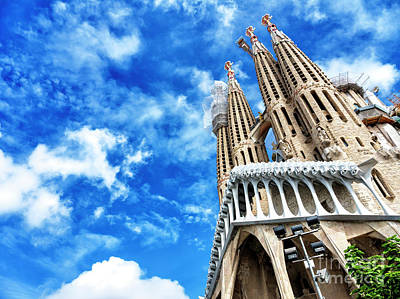 Photograph - Basilica And Expiatory Church Of The Holy Family Barcelona by John Rizzuto