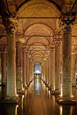 Basilica Cistern Under Istanbul Art Print