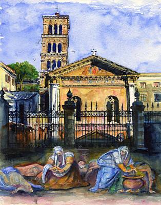 John Benson Painting - Basilica Di Pudenziana by John D Benson