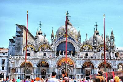 Basilica Di San Marco Print by Sarah E Ethridge
