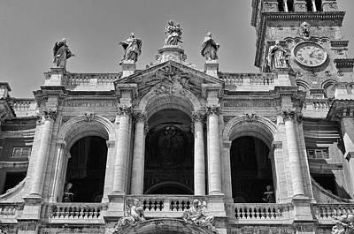 Photograph - Basilica Di Santa Maria Maggiore Rome Italy Black And White by Shawn O'Brien