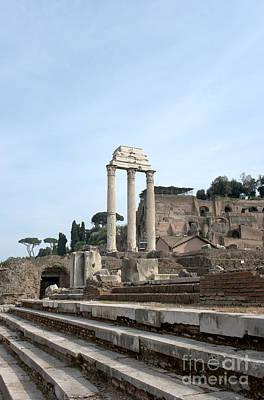 Basilica Giulia E Tempio Dei Dioscuri Art Print