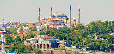 Photograph - Basilica Hagia Sophia In Istanbul by Marek Poplawski