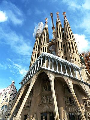 Photograph - Basilica I Temple Expiatori De La Sagrada Familia by John Rizzuto