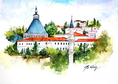 Painting - Basilica Of Annunciation, Nazareth by Betty M M Wong