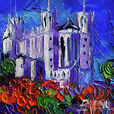 Painting - Basilica Of Notre-dame De Fourviere Lyon by Mona Edulesco
