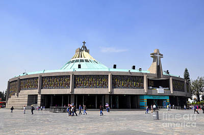 Photograph - Basilica Of Our Lady Guadalupe 2 by Andrew Dinh