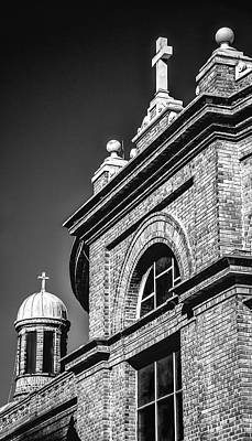 Photograph - Basilica Of Saint Lawrence-bw by Joye Ardyn Durham