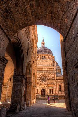 Basilica Of Santa Maria Maggiore In Bergamo Art Print by Nico Trinkhaus