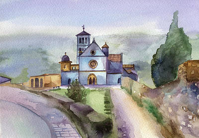 Assisi Wall Art - Painting - Basilica Of St Francis  Assisi by Lydia Irving