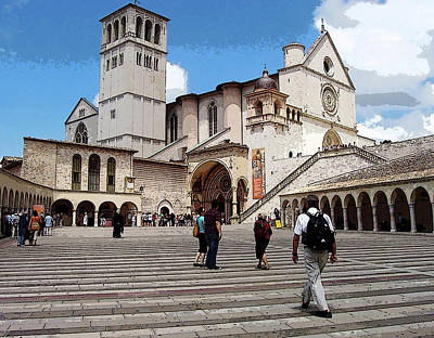 Photograph - Basilica Of St Francis Of Assisi by Debbie Oppermann