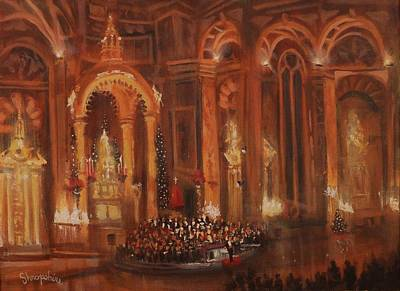 Landmarks Painting - Basilica Of St. Josaphat by Tom Shropshire