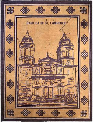 Digital Art - Basilica Of St Lawrence Rug by John Haldane