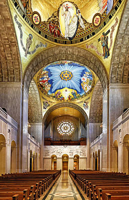 Immaculate Photograph - Basilica Of The National Shrine Of The Immaculate Conception - Interior by Brendan Reals