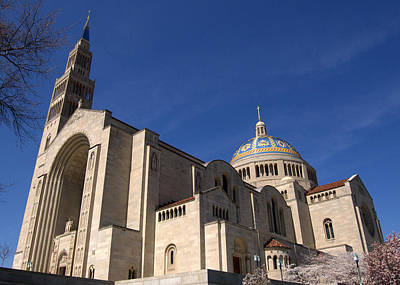 Basilica Of The National Shrine Of The Immaculate Conception Washington Dc Art Print by Wayne Higgs