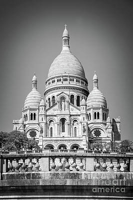 Photograph - Basilica Of The Sacred Heart In Montmartre by Delphimages Photo Creations