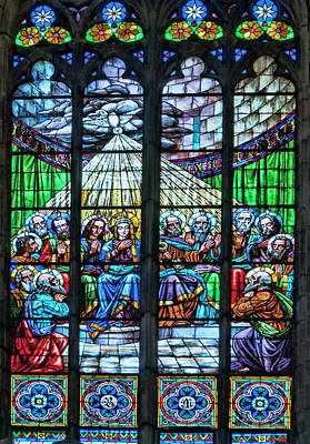 Basilica Santa Maria Del Mar, Barcelona, Spain, Pentecost Window Art Print