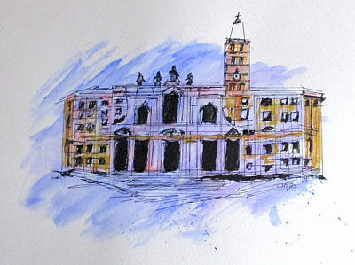 Painting - Basilica St Mary Major by Clyde J Kell