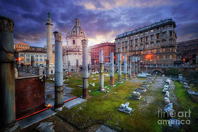 Photograph - Basilica Ulpia And Trajan's Column by Yhun Suarez