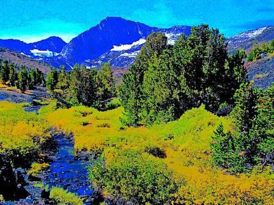 Whitebark Pines Photograph - Whitebark Pines Creekside Sierra Nevada 11000 Feet by Scott L Holtslander