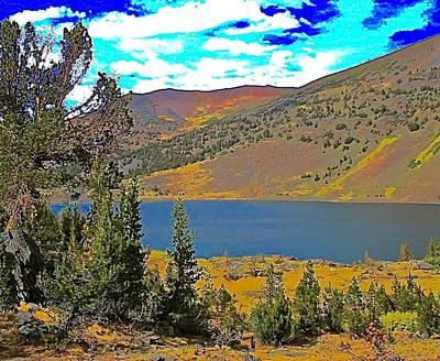 Whitebark Pines Photograph - Saddlebag Lake Whitebark Pines Sierra Nevada by Scott L Holtslander