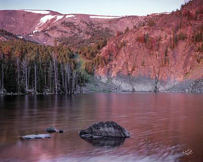 Lake Photograph - Basin Lake Sunrise 2 by Leland D Howard